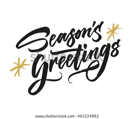 Seasons greetings vector download free vector art stock graphics seasons greetings hand drawn creative calligraphy and brush pen lettering can be used for m4hsunfo Choice Image