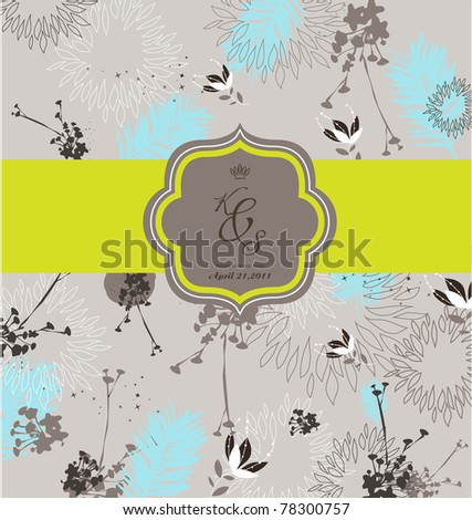 stock vector season seamless floral background best for card design