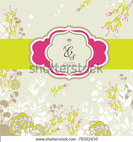 floral background best for card design wedding invitation card