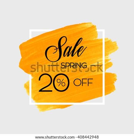 season spring sale 20  off sign