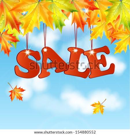 seasonal autumn saleword sale
