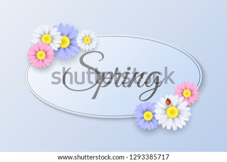 seasonal spring label paper