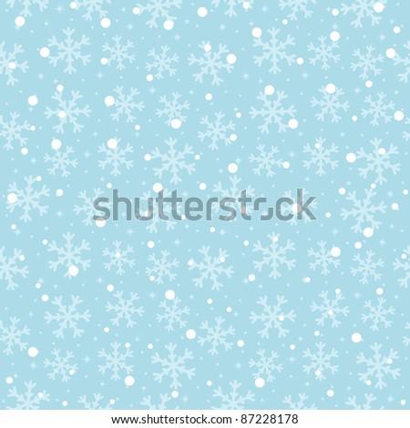 seasonal winter snowflake seamless pattern for your designs