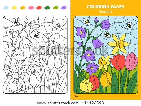 Numbers Coloring Pages - Download Free Vector Art, Stock Graphics ...