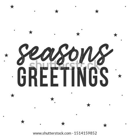 Seasons Greetings, Christmas Holiday Greeting Card, Invitation, Social Media Vector Illustration Background