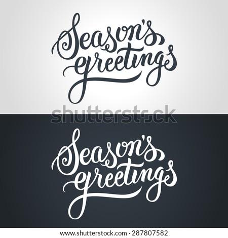 seasons greetings hand...