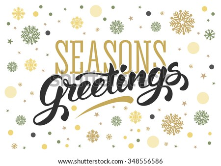 Seasons greetings vector download free vector art stock graphics seasons greetings vintage card for winter holidays hand lettering calligraphic inscription by brush m4hsunfo