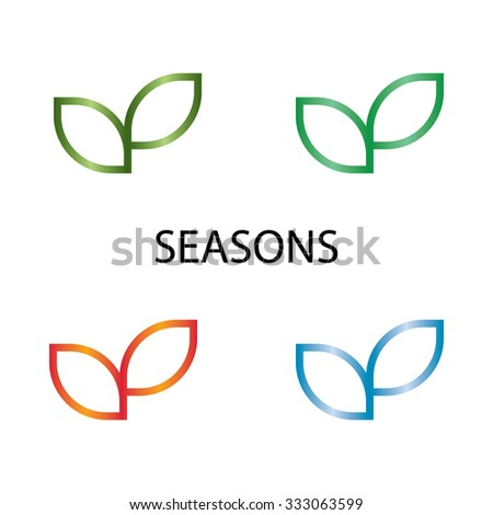 seasons sprout mockup eco logo