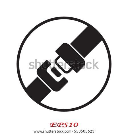 seat belt, badge, vector illustration eps10 Foto stock ©