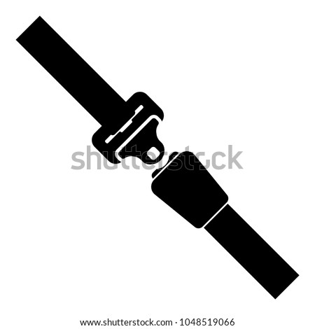 Seat belt icon black color