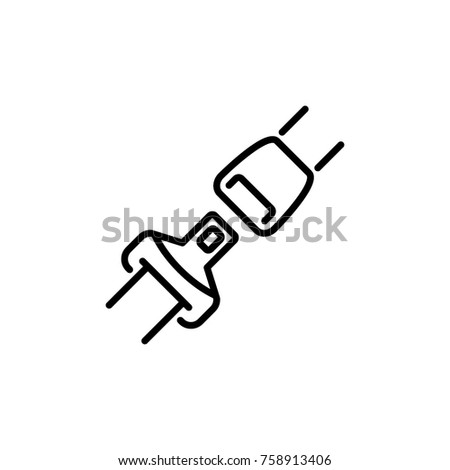 Seat belt icon vector