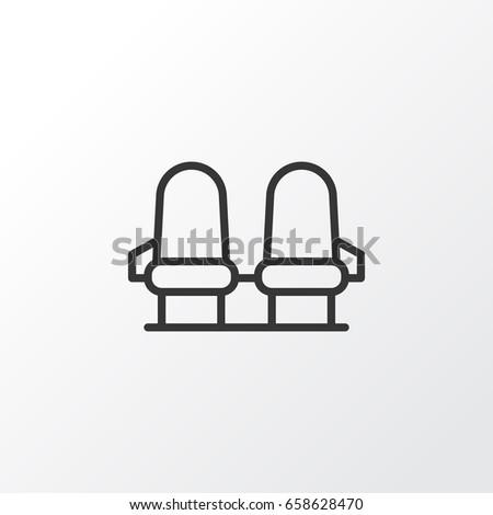 Seats Icon Symbol. Premium Quality Isolated Armchair Seats Icon Element In Trendy Style.