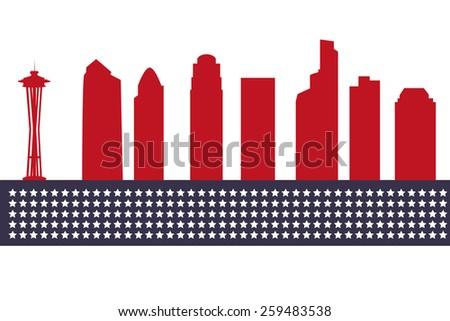 seattle city skyline silhouette