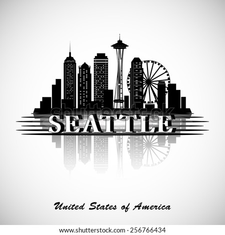 seattle city skyline vector