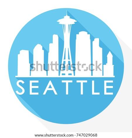 seattle skyline button icon