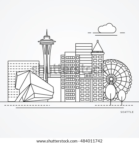 seattle usa detailed one line