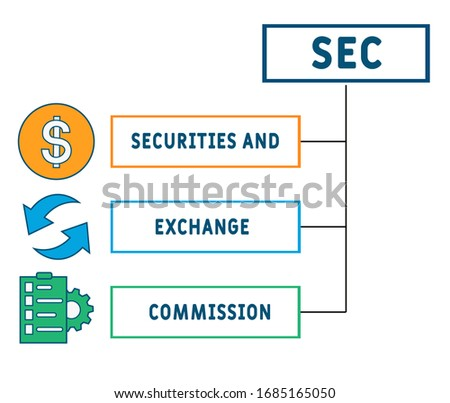 SEC - Securities and Exchange Commission acronym, business concept