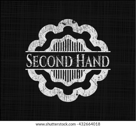 Second Hand chalkboard emblem