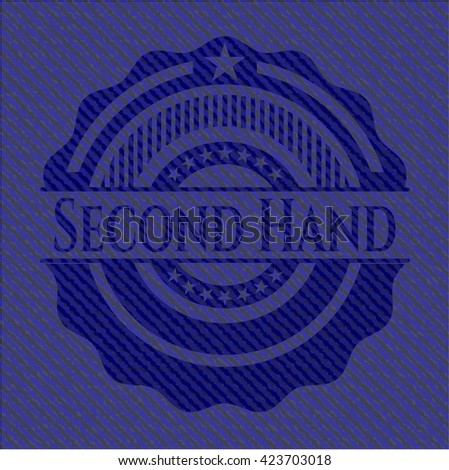 Second Hand emblem with denim high quality background