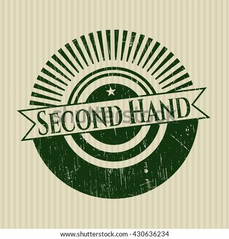 Second Hand rubber grunge texture stamp