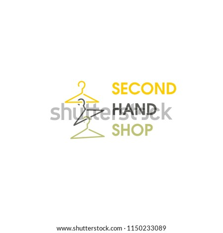 Second hand shop. Template for logo