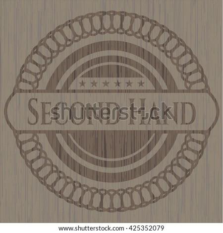 Second Hand wood emblem. Vintage.