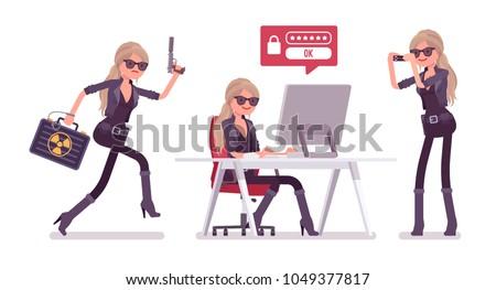 secret agent woman  lady spy of