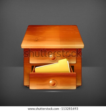 Secretary desk vector - stock vector