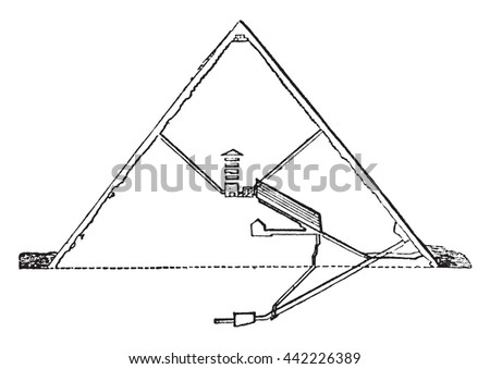 section of the great pyramid ...