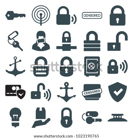 secure icons set of 25