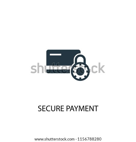 secure payment creative icon. Simple element illustration. secure payment concept symbol design from Internet Security collection. Can be used for web and mobile.