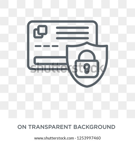 Secure Payment icon. Trendy flat vector Secure Payment icon on transparent background from Internet Security and Networking collection. High quality filled Secure Payment symbol use for web and mobile Photo stock ©