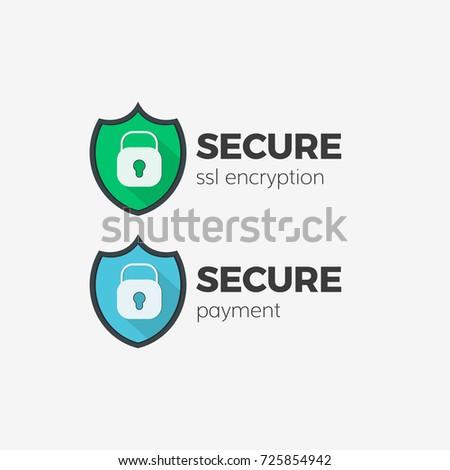 secure payment ssl technology icon set