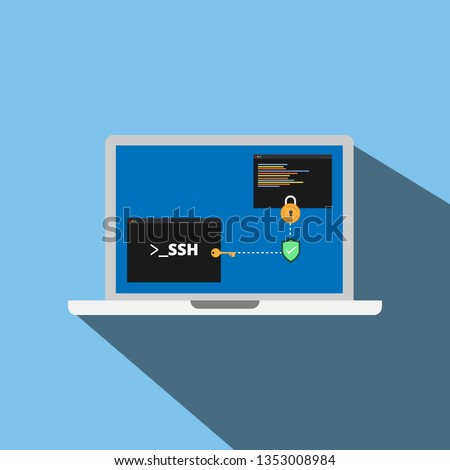 secure shell  ssh  concept