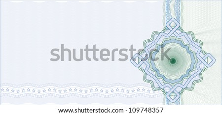 Secured Guilloche Background for Certificate, Voucher or Banknote / Vector