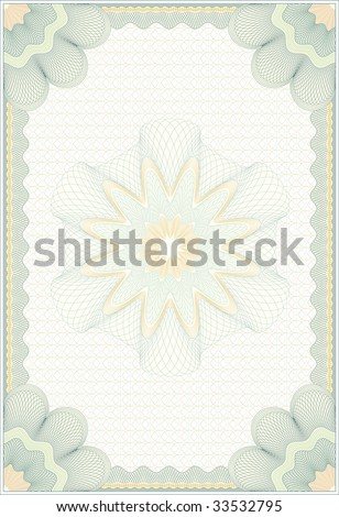"""Secured """"Guilloche"""" diploma background, elements are in layers for easy editing"""