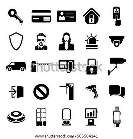security and commercial icon set