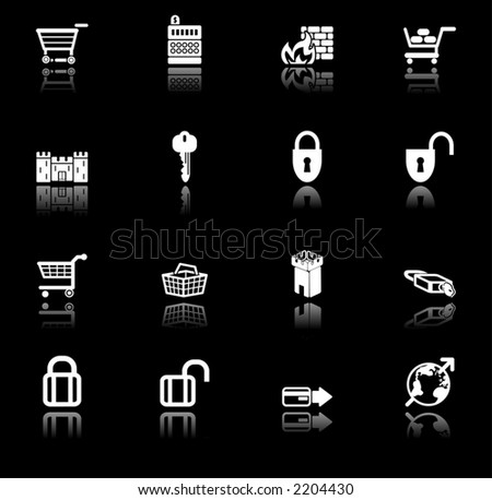 security and e-commerce icon set series.