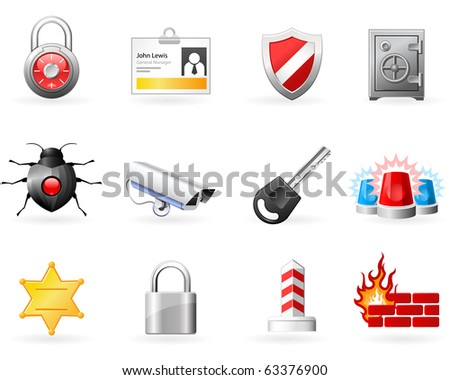 Security and Safety icons
