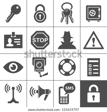security and warning icons