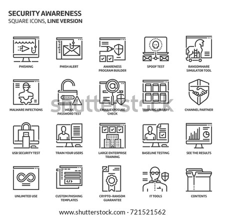 security awareness square icon