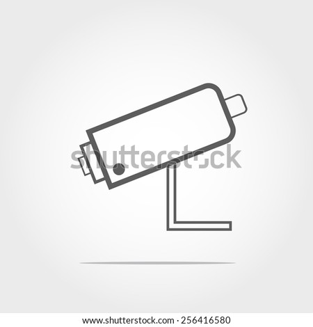 security camera and urban video (CCTV)sign icon on white background