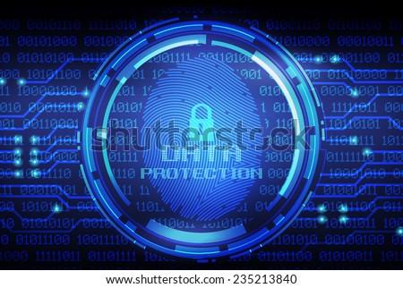 security concept  fingerprint...