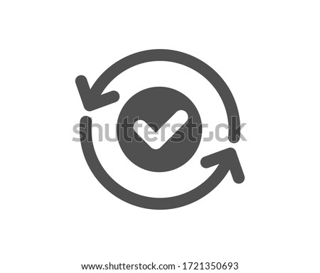 Security confirmed icon. All day cyber defence sign. Private protection symbol. Classic flat style. Quality design element. Simple security confirmed icon. Vector Photo stock ©