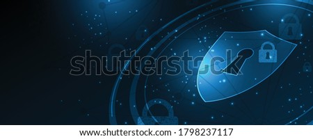 Security cyber digital concept Abstract technology background protect system innovation vector illustration  Сток-фото ©