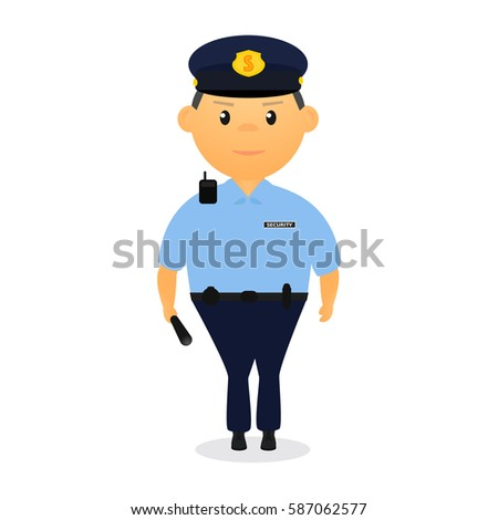 royalty free security guard vector illustrator 588459668 stock