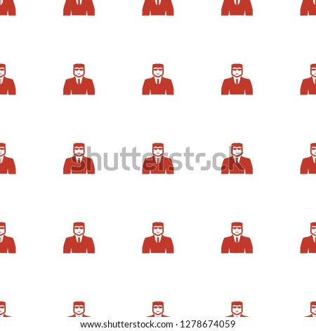 security guy icon pattern seamless white background. Editable filled security guy icon. security guy icon pattern for web and mobile.