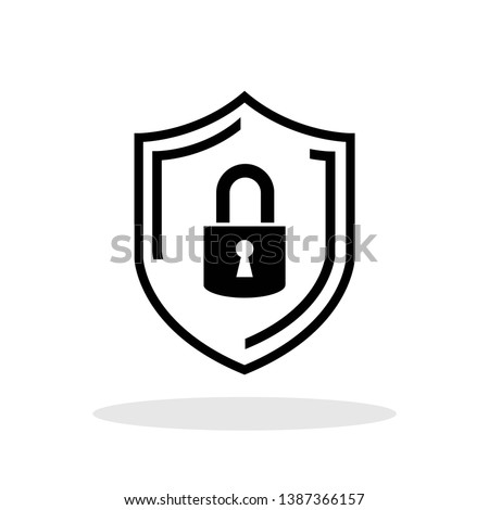 Security icon in flat style. Shield security symbol for your web site design, logo, app, UI Vector EPS 10.