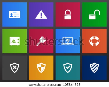Security icon series in Metro style
