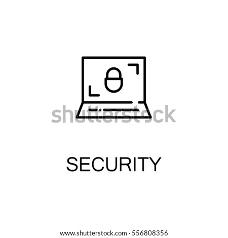 Security icon. Single high quality outline symbol for web design or mobile app. Thin line sign for design logo. Black outline pictogram on white background